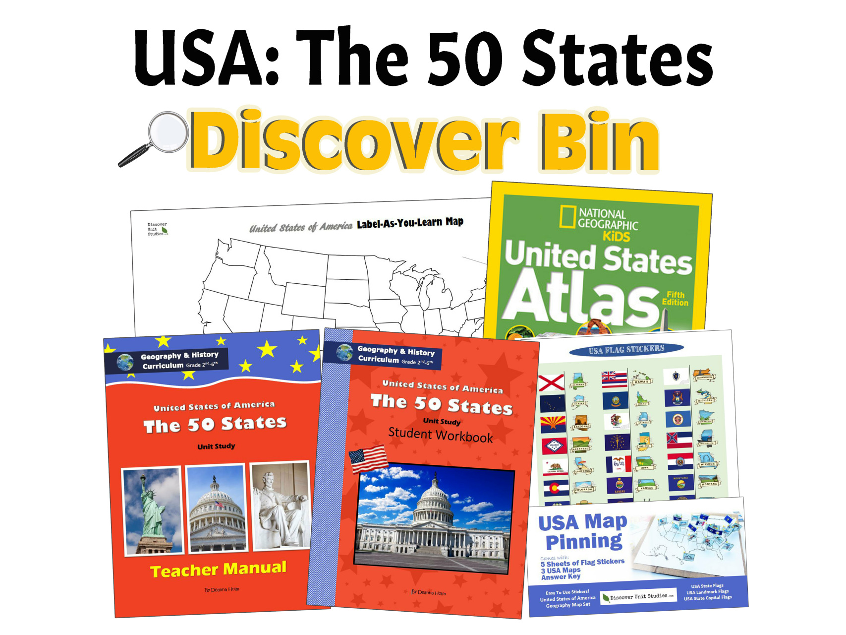 Usa The 50 States Geography History Curriculum - Us-history-curriculum-map