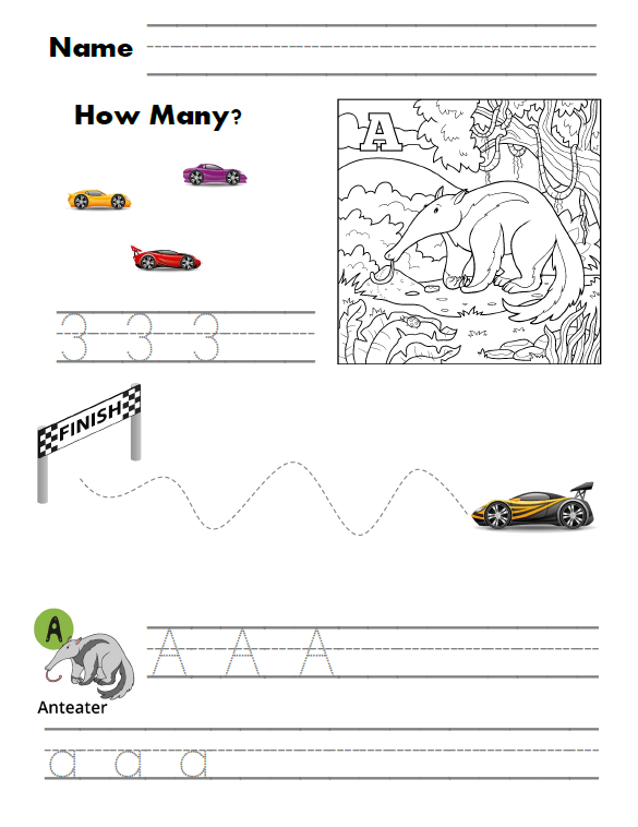 Race Car Student Workbook PDF Download