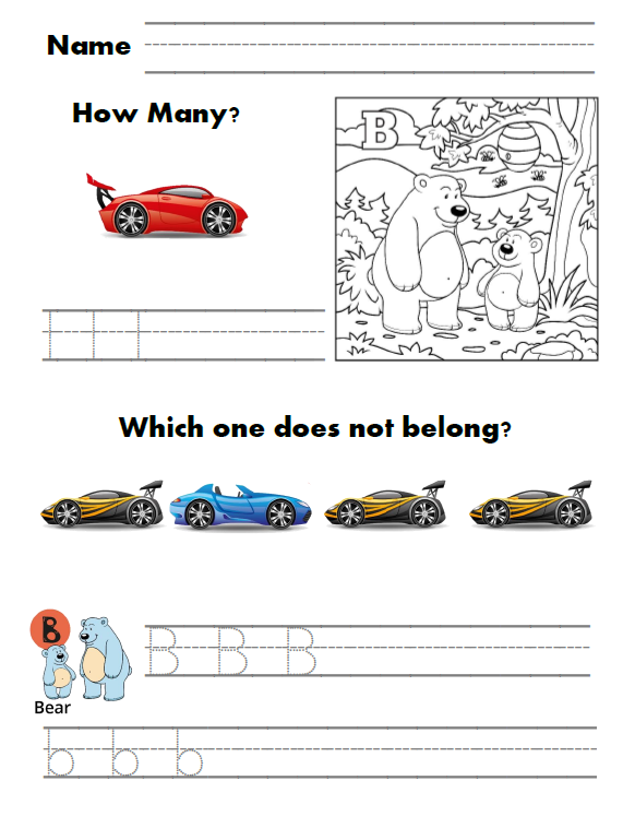Race Car Preschool Workbook. This Race Car Preschool Workbook Offers A Fun Way To Learn Letters And Numbers Perfect For Or Kindergarten Students Who Need An Introduction. Kindergarten. Worksheet Vehicles Kindergarten At Mspartners.co