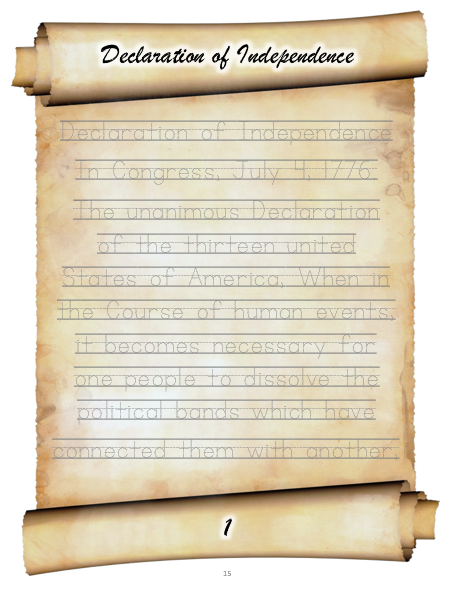 Declaration of independence lesson plan picture publicscrutiny Gallery